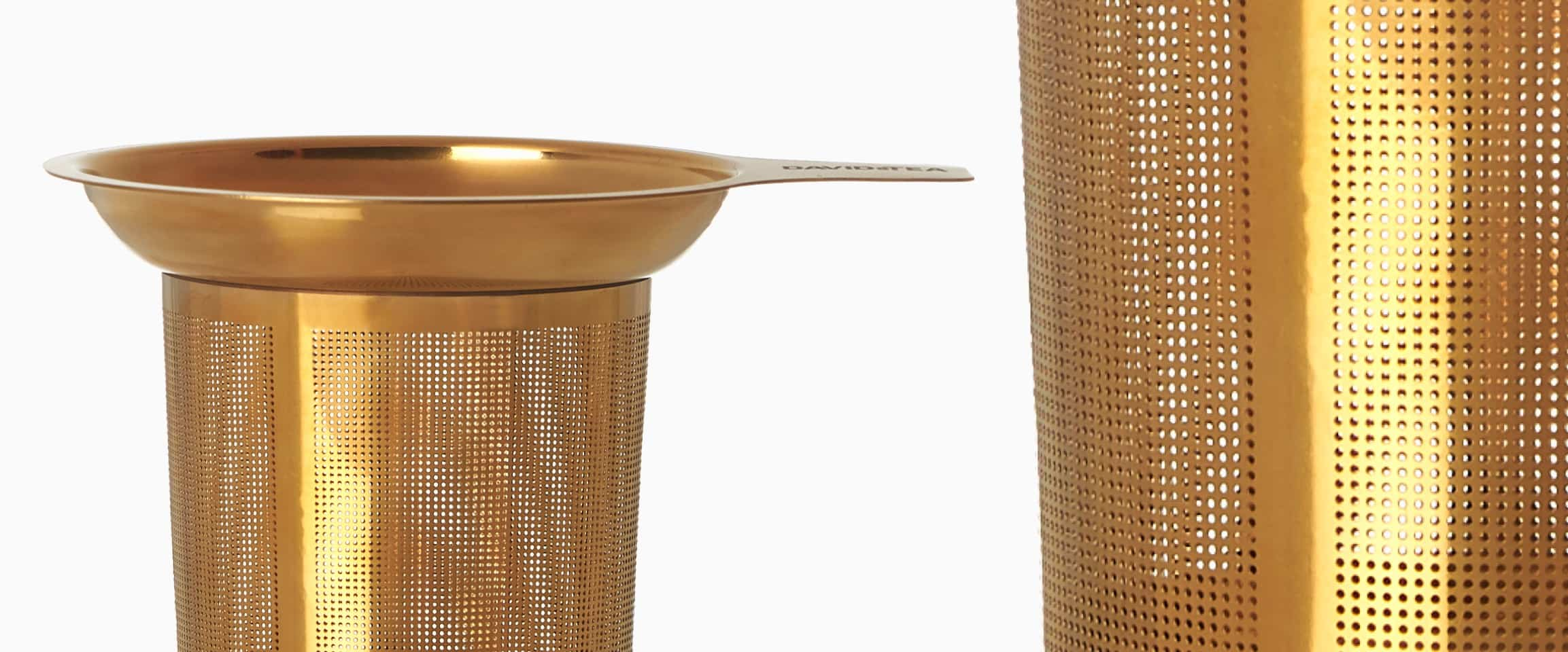 Zoomed-in view of the gold Perfect Infuser.