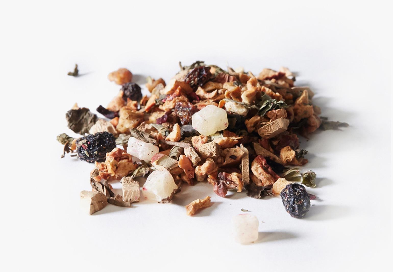 Reishi Recharge tea ingredients.