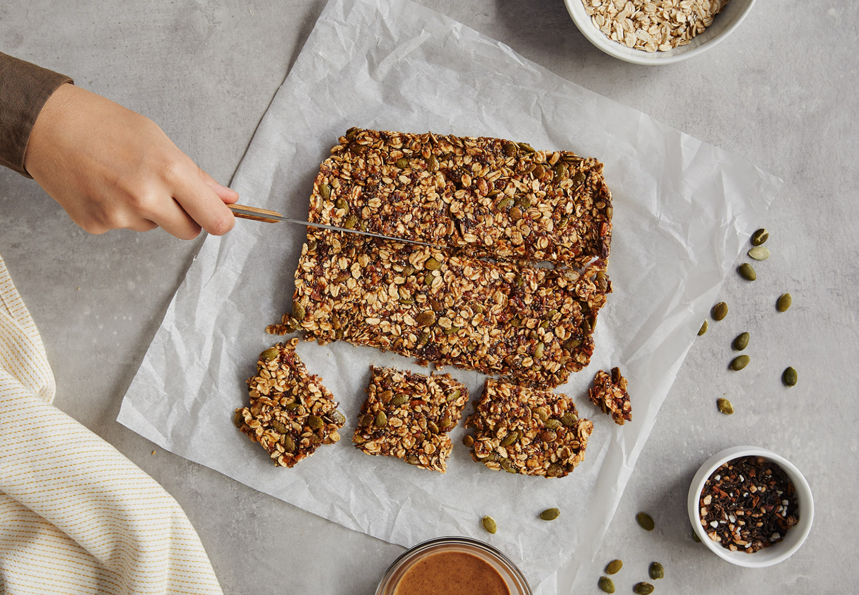 Healthy Energy Bars Made With S'mores Chai Tea