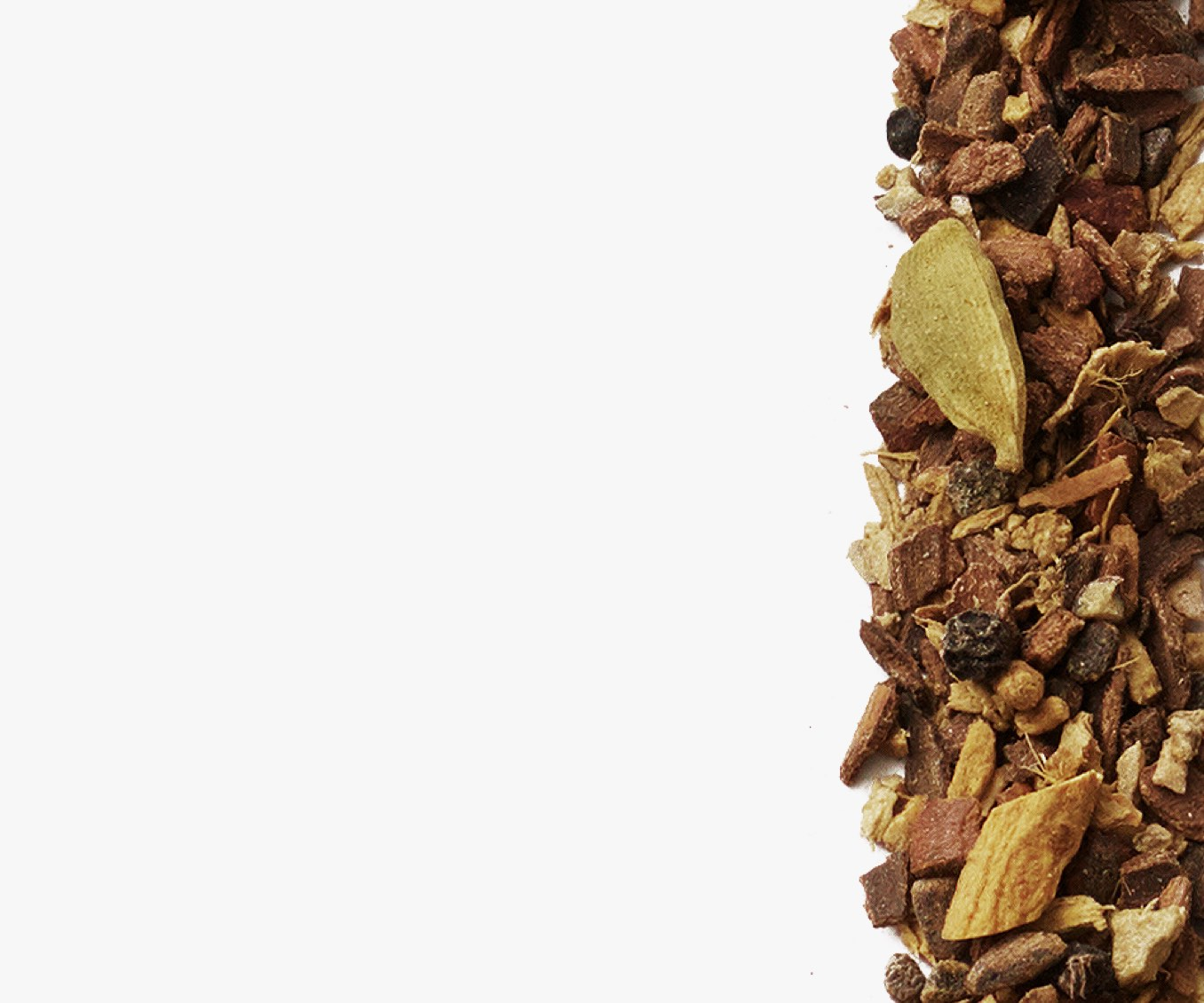 Premium loose leaf chai blend featuring traditional spices like cardamom, cinnamon, clove.