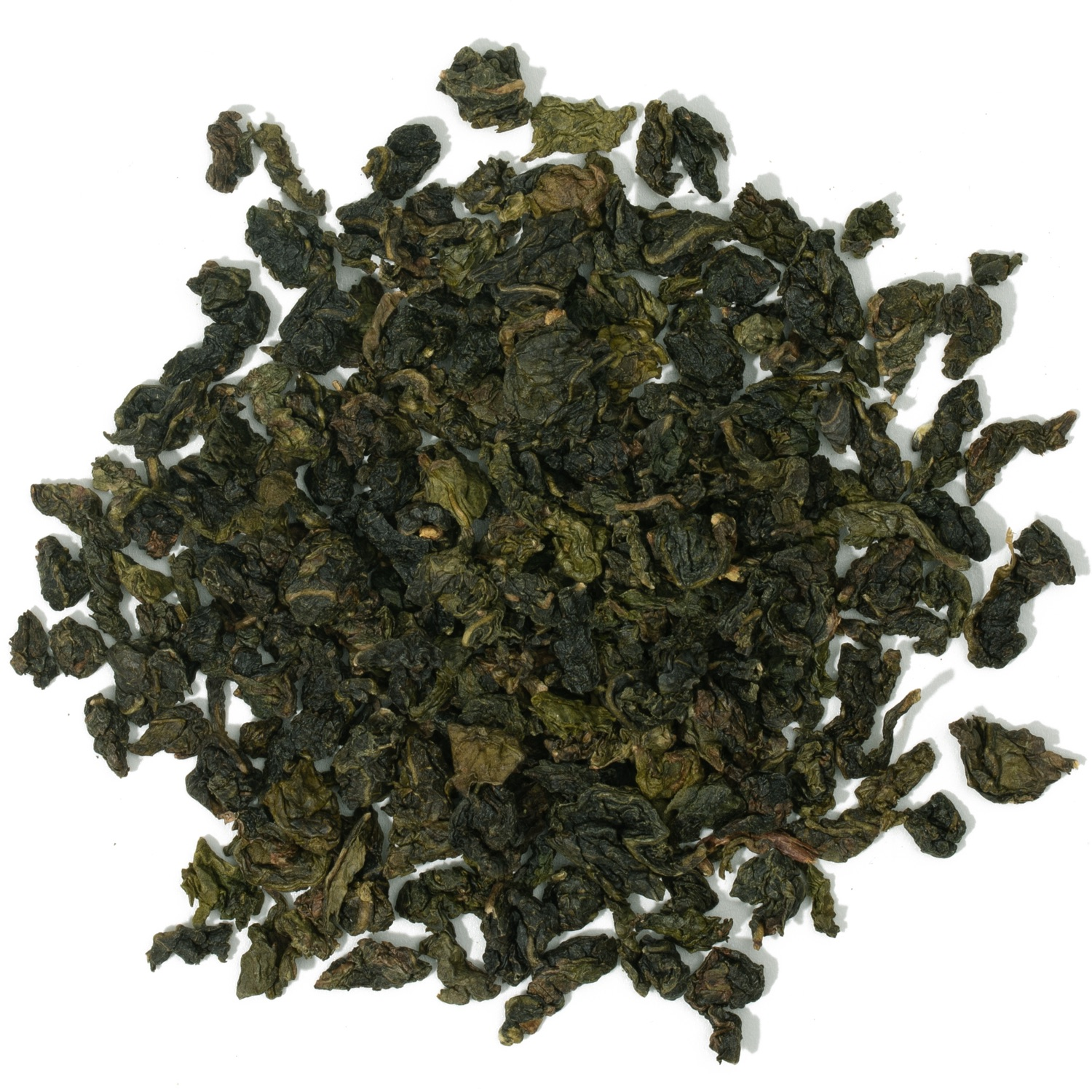 Splash of loose leaf oolong tea.