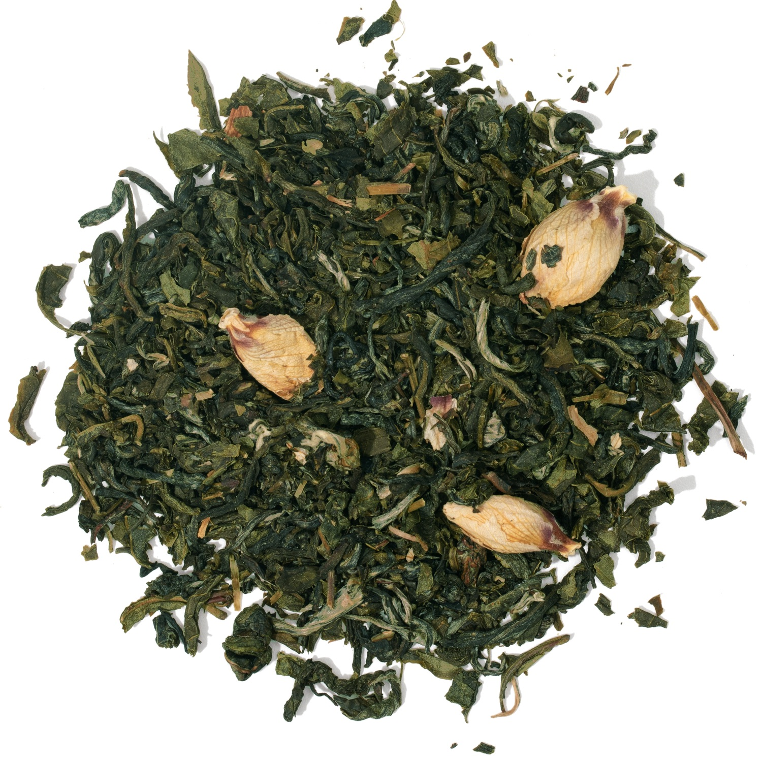 Splash of loose leaf white tea.